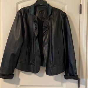 Bagatelle Leather Jacket Blazer Black size 1X